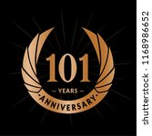 101 years anniversary. elegant... | Shutterstock .eps vector #1168986652
