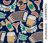 doodle hand drawn octoberfest... | Shutterstock .eps vector #1168986952
