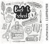 back to school vector card.... | Shutterstock .eps vector #1168986988