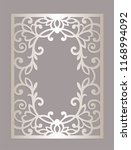 rectangle laser cut frame panel ... | Shutterstock .eps vector #1168994092