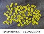 blocks of english letters...   Shutterstock . vector #1169022145