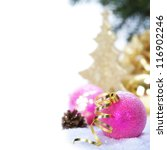 Pink Christmas Balls With...