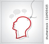 man head silhouette with tag | Shutterstock .eps vector #116905435