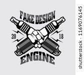 motor cycle spark logo | Shutterstock .eps vector #1169076145