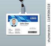 blue office id badge design... | Shutterstock .eps vector #1169086318