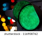 Green Traffic Light With...