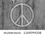 sign of peace on a rusty metal... | Shutterstock . vector #1169094208