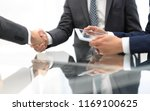 two confident businessmen... | Shutterstock . vector #1169100625