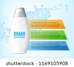 plastic packaging with hair...   Shutterstock .eps vector #1169105908