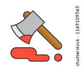 bloody axe  murder equipment ... | Shutterstock .eps vector #1169109565