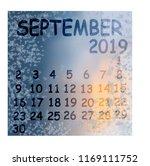 calendar month september winter ...   Shutterstock .eps vector #1169111752