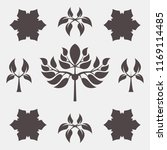 set of abstract foliate signs.... | Shutterstock .eps vector #1169114485