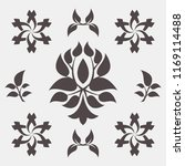 set of abstract foliate signs.... | Shutterstock .eps vector #1169114488