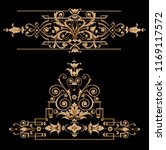 gold baroque elements and... | Shutterstock .eps vector #1169117572