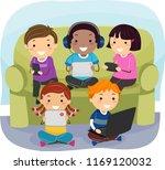 illustration of stickman kids... | Shutterstock .eps vector #1169120032