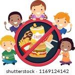 illustration of stickman kids... | Shutterstock .eps vector #1169124142