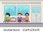 illustration of stickman kids... | Shutterstock .eps vector #1169124145