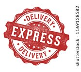 express delivery vector label... | Shutterstock .eps vector #1169128582