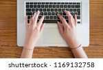closeup of young female hands... | Shutterstock . vector #1169132758