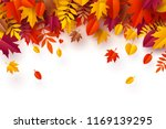 paper art of autumn  pile of... | Shutterstock .eps vector #1169139295