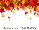 paper art of autumn  pile of... | Shutterstock .eps vector #1169139295