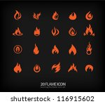flame icons 2 | Shutterstock .eps vector #116915602