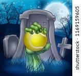 a sports halloween graveyard... | Shutterstock .eps vector #1169159605