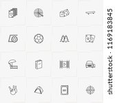leisure line icon set with... | Shutterstock .eps vector #1169183845