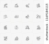 landscape line icon set with... | Shutterstock .eps vector #1169184115