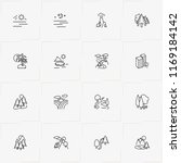 landscape line icon set with... | Shutterstock .eps vector #1169184142