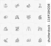 landscape line icon set with... | Shutterstock .eps vector #1169184208