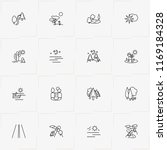 landscape line icon set with... | Shutterstock .eps vector #1169184328