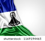 lesotho flag of silk with... | Shutterstock . vector #1169194465