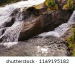 waterfall closeup photo | Shutterstock . vector #1169195182