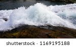 waterfall closeup photo | Shutterstock . vector #1169195188
