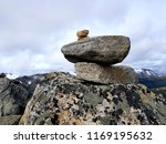 mountain stone tower  beautiful ... | Shutterstock . vector #1169195632