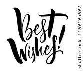 best wishes lettering.... | Shutterstock .eps vector #1169195692