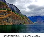 wonderful fjords  blue sea... | Shutterstock . vector #1169196262