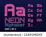 digital circuit neon alphabet | Shutterstock .eps vector #1169198545