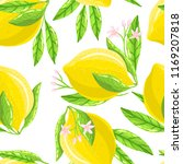 seamless pattern with lemon | Shutterstock .eps vector #1169207818