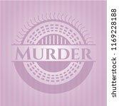 murder realistic pink emblem | Shutterstock .eps vector #1169228188