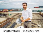 young architect engineer... | Shutterstock . vector #1169228725