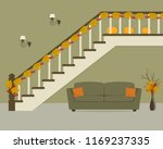 autumn decor in a home interior.... | Shutterstock .eps vector #1169237335
