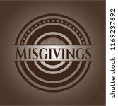 misgivings realistic wooden...   Shutterstock .eps vector #1169237692
