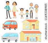 three generational households... | Shutterstock .eps vector #1169238985