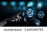 roi return on investment...   Shutterstock . vector #1169240755