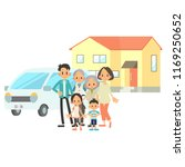 three generational households   ... | Shutterstock .eps vector #1169250652