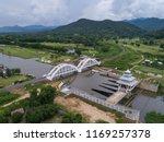 aerial view white bridge...   Shutterstock . vector #1169257378