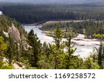 bow river trail in banff ... | Shutterstock . vector #1169258572