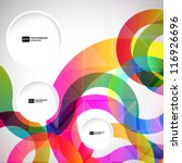 abstract background with vector ... | Shutterstock .eps vector #116926696